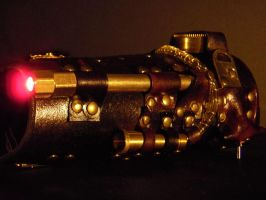 Steampunk bracer -Never Lost- by IsilWorkshop