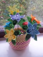 Kusudama flower pot by Ilyere