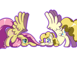 Fluttershy and surpise by 8BitAmy
