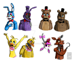FNAF- Old and new by DrZombieFox
