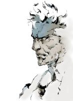 Solid Snake like the artbook by Arkkus