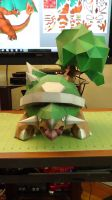 Pokemon Torterra Papercraft 3 by devastator006