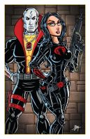 Destro and The Baroness by calslayton