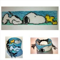 Snoopy and Woodstock bracelet 2 by ravenarcana