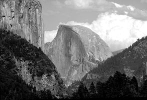 El Capitan and Half Dome by Rayroze