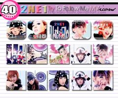 2NE1 Try To Follow Me Icons by naru-hoshi