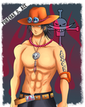 Portgas D. Ace by cromarlimo