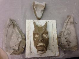 modeling and mold for my latex devil-mask by RyanKuder