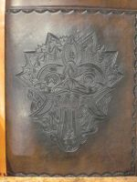 Demon Mask journal cover by FattDaddyLeather