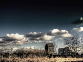 Skies over an old windmill by Kaddayah