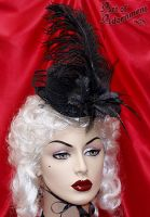Nocturne Burlesque Mini Hat by Valerian