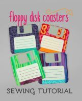 Sewing Tutorial - The Floppy Disk Coasters by SewDesuNe