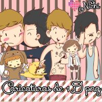 One Direction Caricaturas PNG by Nichhi