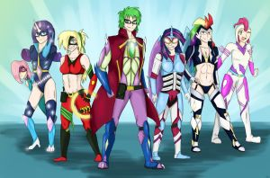 Human Power Ponies by MLJ-Lucarias