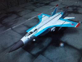 Azzura's MIG-31 Foxhound by The-Nuclear-Pegasus