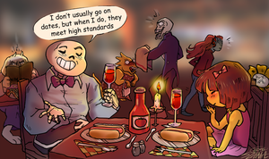 Date with Sans by Fonora
