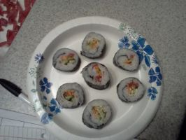 First try at making sushi by unickme