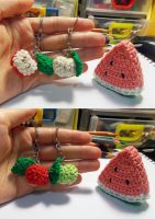 Apples and Watermelon Slice Amigurumi by ByMeBeHappy