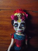 OOAK Sugar Skull Art Doll by claylindo