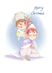 Merry Christmas from over the garden wall by Kittykatpaws