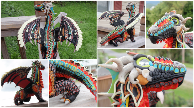 Aztec Dragon by CaleCreations