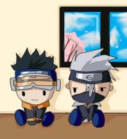 obito and kakashi plushies by elkindragon
