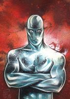 Silver Surfer Sketch Card by JeffLafferty