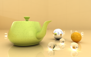 Teapot and Spheres by AbdoHad