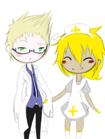 Dr Holland and his assistant by xCrazyWonderlandx