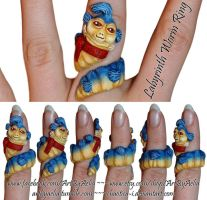 Hand-Made Labyrinth Worm Ring - FOR SALE by Chaotica-I