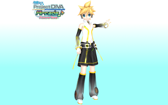 Project Diva Arcade Future Tone Append Len by Luke-Flame