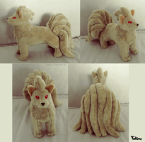 Standing Ninetales plush by Tedimo