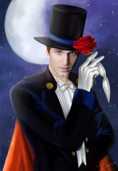 Keegan Allen as Tuxedo Mask by MartaDeWinter