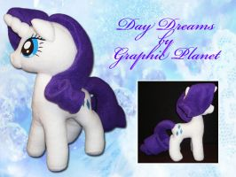 My Little Pony Rarity Plush by GraphicPlanetDesigns