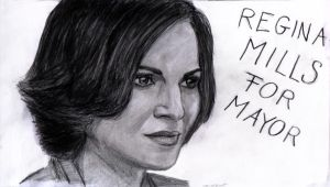 Regina Mills for Mayor by zsorzset