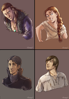 Revenge of Rakazel Portrait Sheet 1 by Eninaj27