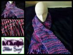 KCKnits Pink/Purple/Blue Tassled Scarf by KCKnits