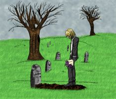 At your grave... by aiyume10