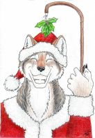 Mistletoe Wolf by poim