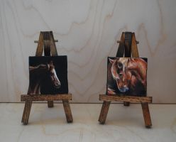Miniature Oil Paintings- 2x2 inches by tarried-sea