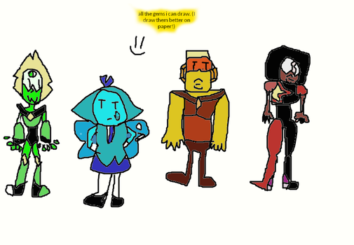 All the gems I can draw! by ENDERMAN6589
