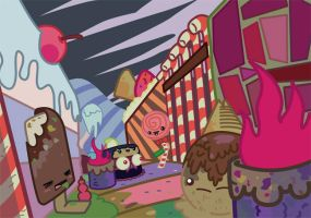 'IN THE SLUMS OF CANDYLAND' (2014) by MIRKOMICS