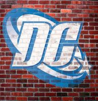 DC logo graffiti by teamblazeman