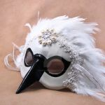 Silver Swan Mask1 by pilgrimagedesign