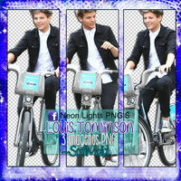 Louis Tomlinson-Neon Lights PNG'S by SoffMalik