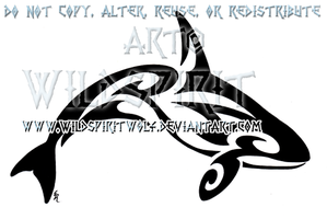 Tribal Killer Whale Tattoo by WildSpiritWolf