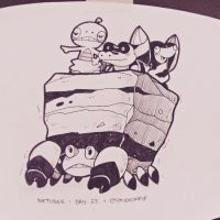 Inktober #23:Crustle, Scraggy, Sandile and Drilbur