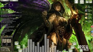 Avenging Angel Desktop for Rainmeter by ionstorm01