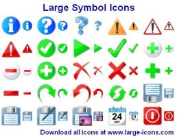 Large Symbol Icons by shockvideoee