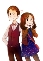 the doctor and clara by InvincibleChimiPie